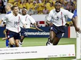 sol campbell's race claims were 'right'... michael owen 'was not england captaincy material'