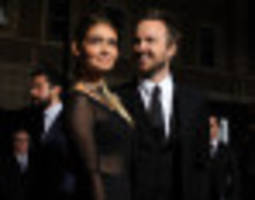 Lauren Parsekian Wears Sheer Dress To Aaron Paul's 'Need For Speed' Premiere