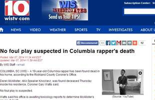 speaker knockerz dies: report claims south carolina rapper dead, no foul play suspected; 'rip' trends on twitter